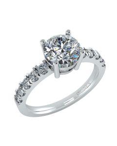 Henrik Ørsnes Design Ring i 14 Karat Hvidguld med Diamanter 1,00 Carat W/SI