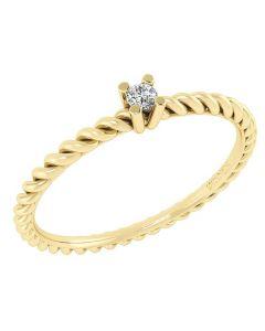 14 Karat Guld Ring med Diamant DMN0345YG